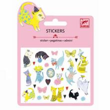 Glitter Cats Mini Stickers By Djeco