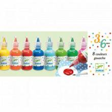 Box Of 8 Gouache Paints By Djeco 3-6yrs