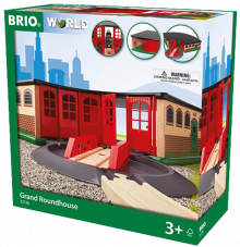 Grand Roundhouse BRIO® Wooden Railway 3+