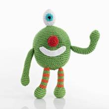 Green Crochet Chubby Ugly Monster Handmade