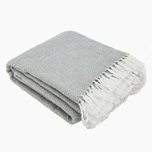 Grey Blanket From Recycled Bottles