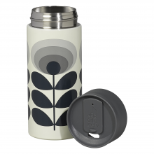 Grey 70s Oval Flower Travel Mug 350ml By Orla Kiely