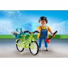 Handyman With Bike Playmobil Special Plus 4791