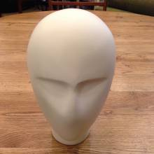 Head From Mannequin Robot Look White