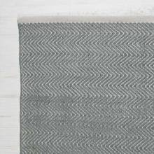 Herringbone GREY 180xx120cm Recycled Bottle Rug