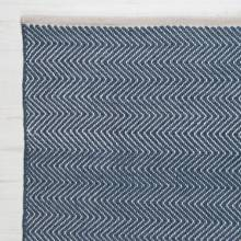 Herringbone NAVY 240x170cm Recycled Bottle Rug