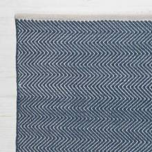 Herringbone NAVY 110cm x 60cm Recycled Bottle Rug