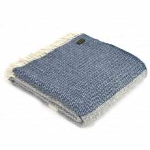 Grey Panel Throw Blanket 150x183cm