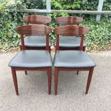 Vinyl Set of 4 Dining Chairs