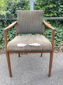Danish Teak Elbow Chair Upholstered