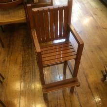 Vintage Wooden Slatted Children's High Chair