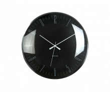 Dragonfly Black Domed Glass Wall Clock
