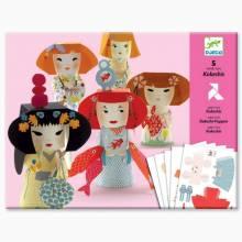 Kokeshis Paper Modelling Card Pack