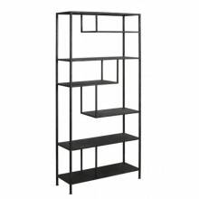 Large Black Metal Geometric Open Shelving Unit