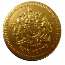 Large Milk Chocolate £1 Coin 125mm