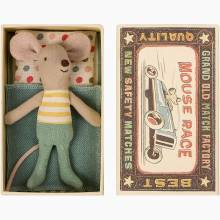 Little Brother Mouse In Matchbox By Maileg
