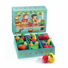 Louis and Clementine Vegetable Shop Set By Djeco