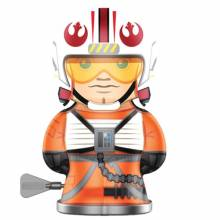 LUKE SKYWALKER Star Wars Robot Bebot Wind Up Tin Toy