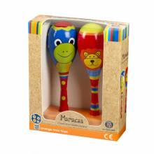 LION & FROG Boxed Set Of 2 Maracas 1+