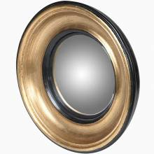 Mini Convex Mirror In Gold & Black Frame