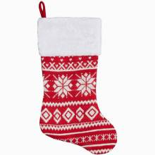 Red & White Nordic Christmas Stocking By Gisela Graham