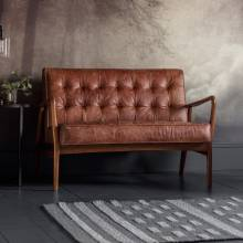 The Olsen - 2 Seater Settee - Leather - Distressed Brown