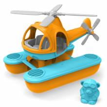 Green Toys Orange Seacopter- Recycled Plastic Toy  3+