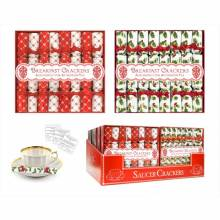 Pack Of 8 Mini Red & White Saucer Crackers
