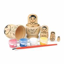 Paint Your Own Baboushka Russian Doll Kit