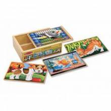 Pets - 4 Puzzles In A Box 3+ By Melissa & Doug