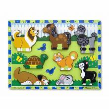 PETS Chunky Peg Puzzle By Melissa & Doug