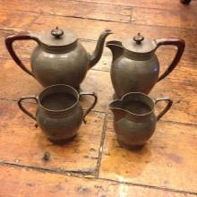 Pewter Tea Set 4 Piece Talbot Pewter