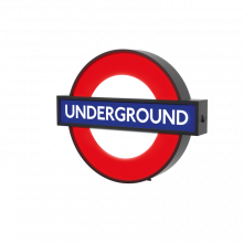 London Underground Illuminated Sign Wall Mount Box Sign