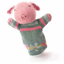 Pig - Hand Knitted Glove Puppet Organic Cotton