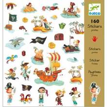 Pirates Stickers Stylish 160 Sticker Pack Various By Djeco
