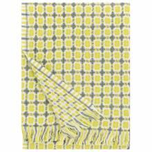 Corona Grey & Pistachio Wool Blanket 100x170cm