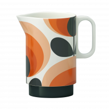 Orange Oval Flower 70s Pitcher By Orla Kiely