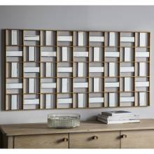 Playboy Mosaic Panelled Rectangular Mirror