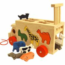 Wooden Animal Shape Sorting Lorry 18m+