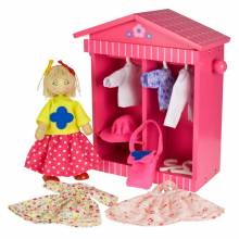 Daisys Wardrobe Dress Up Doll With Pink Wardrobe And Clothes
