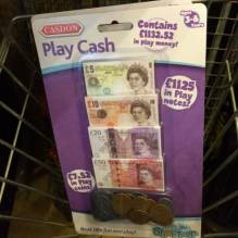 Play Cash Money Play Notes English Sterling Toy Money Till