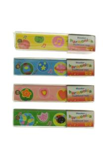 Wooden Brightly Coloured Harmonica BJ