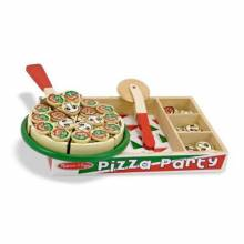 Pizza Party Wooden Play Food 2+.