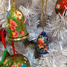 Bell Christmas Decoration Papier Mache Fair Trade