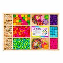 Rainbow Alphabet Bead Box Beading Set 5yr+