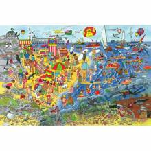 Seaside Puzzle 48 Piece Giant Handcut Wooden Activity Puzzle