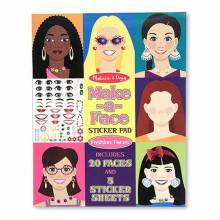 Make A Face Girls Sticker Pad Melissa + Doug