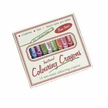 Traditional Colouring Crayons Mixed Colours In Retro Pack 3yr+