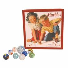 Traditional Box Of Marbles.13x13cm.