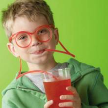Drinking Glasses - Specs With Straw - Great For Parties!